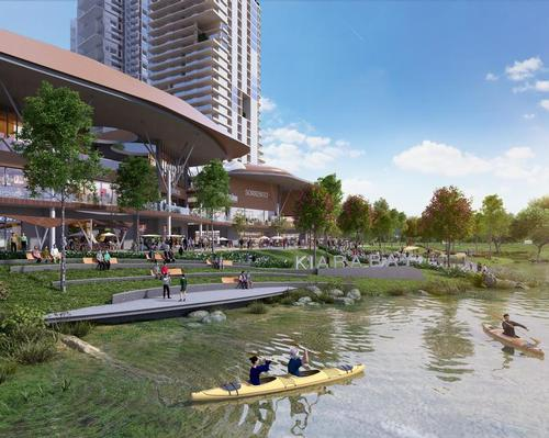 There are three planned areas: the Waters, the Walk and the Village / UEM Sunrise and Melati Ehsan Group