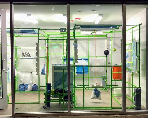 The installation, called is aimed at encouraging assembly rather than construction and refinishing rather than remanufacturing / Stock-a-Studio