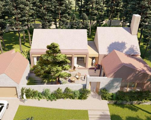 The concept for homes is inspired by local traditions and as such homes are designed around courtyards / JTP