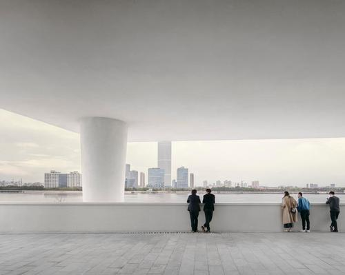The 22,000sq ft (2,000sq m) facility sits on the north bank of the Huangpu River / Simon Menges