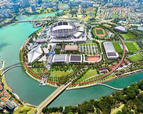 Planned facilities include a football hub and a tennis centre for both community and international tournaments / Pomeroy Studio