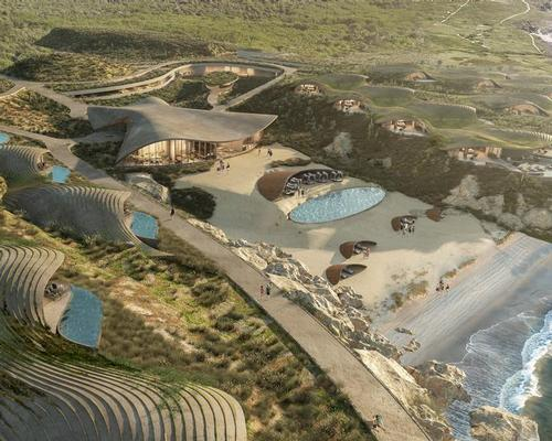 Sordo Madaleno Arquitectos (@Sordo_Madaleno) have created a branched, undulating design for Chablé's (@ChableResort) planned Sea of Cortez spa resort that blends with the natural landscape and gives guests both privacy and ocean views.