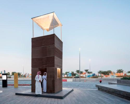 MAS Architecture Studio scale down the wind tower to keep pedestrians cool