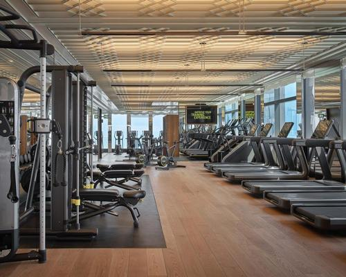 Additional facilities include a Technogym-equipped gym, hair and nail salon, social space and dining concept.