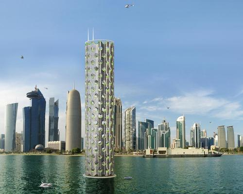 The 750m (2,500ft)-high city-building is designed to accommodate 25,000 people across 180 floors / Luca Curci Architects