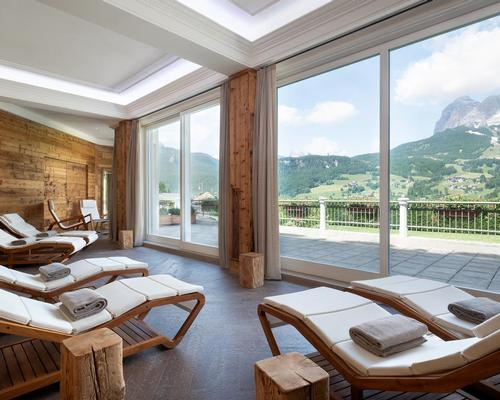 Luxury ski spa in Cortina redeveloped to create 'natural ambience'