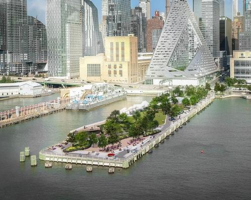 Pier 97 is north of Hudson Yards and overlooked by Bjrake Ingels' Via 57 West / !melk / Hudson River Park Trust