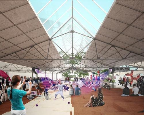 The redevelopment is aimed in part at creating more exciting public realm in the city / OMA