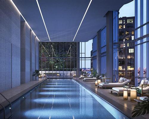 Wellness offerings include a fitness centre, a yoga studio and a heated, 55-foot indoor swimming pool / The Boundary