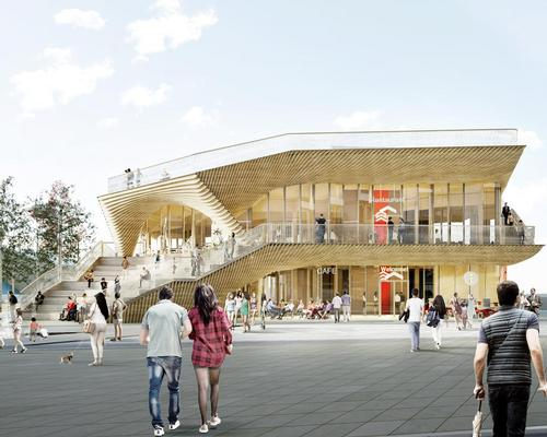 The Pavilion is designed to be an extension of the area's existing public realm / ACME