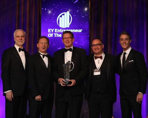 Geoff Chutter (centre) beat out more than 300 entrants to become Ernst & Young's EY Entrepreneur of the Year 2019