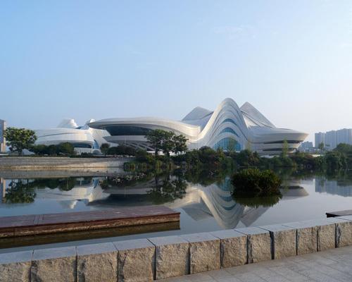 The Changsha Meixihu International Culture & Arts Centre covers 115,000sq m (1,240,000sq ft)