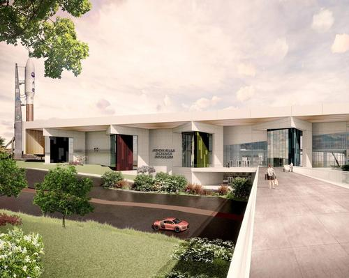 The third concept combines glass, metal and stone and was inspired by the elements; air, water and fire.