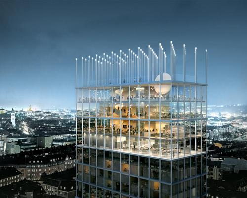 Tham & Videgård's +One Tower looks almost matchstick-built