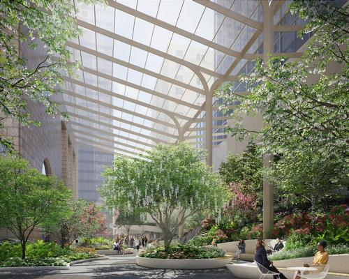 The new designs will increase the amount of public open space at the building by 50 per cent