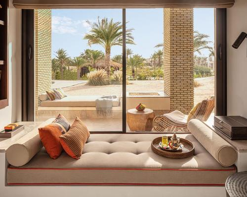 The interior is inspired by Arabian and North African designs with North African furnishings.