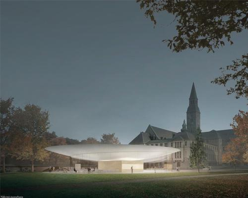JKMM's proposal was inspired by similar pavilion structures used in park-like settings / JKMM Architects