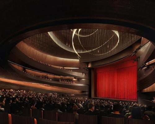 The theatre houses a grand circular auditorium / Plomp