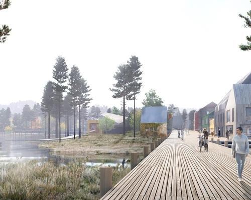MAD Arkitekter nature town celebrates the beautiful landscape of Martineåsen