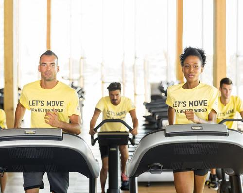 Those taking part will 'donate their movement' in order to provide schools with fitness equipment