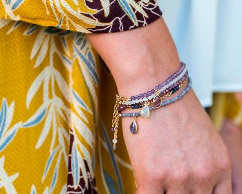 Mala + Mantra collection inspired by birthstone traditions