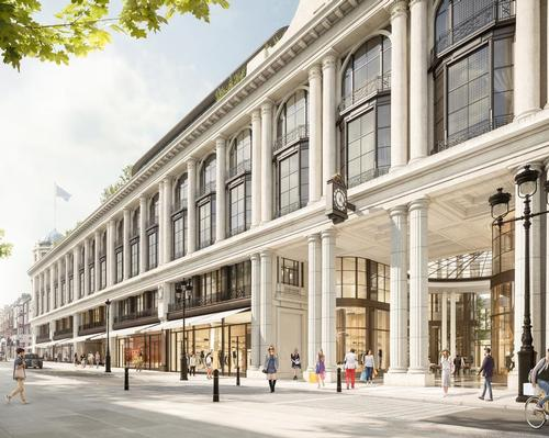 Six Senses London will be located in London's redeveloped Whiteleys store, which was first opened as a drapery shop in 1863. / Lightfield for Foster + Partners