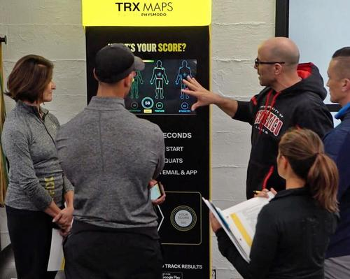 The technology can perform a total body movement assessment scan in under 30 seconds / TRX