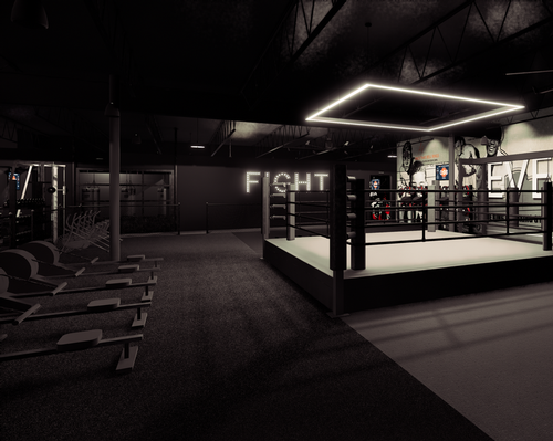The 6,200sq ft (604sq m) club will feature a full-size boxing ring, personal and small group training areas and two group exercise classrooms / EverybodyFights