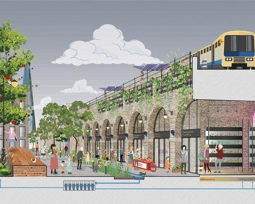 PDP's proposal is aimed at celebrating the heritage of the railway arches and reanimating derelict and forgotten sites along its route / PDP London