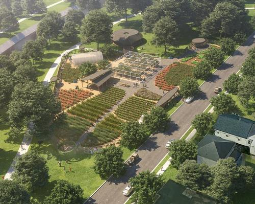 the farm will cover an area of 50,000sq ft (4,650sq m)