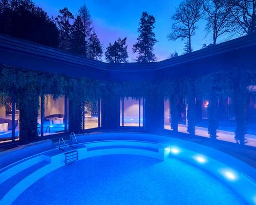 The spa has retained its original pool, which sits at the heart of the destination