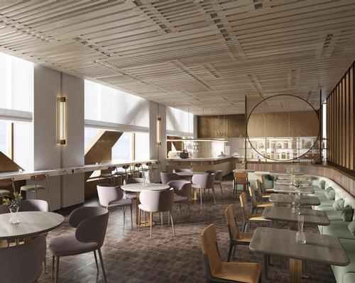 Building occupants will b able to choose from a variety of food and drink outlets