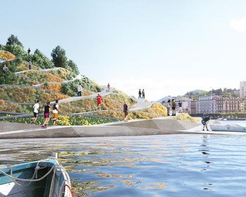 New public spaces will include a floating garden island connected by a new water navigation system