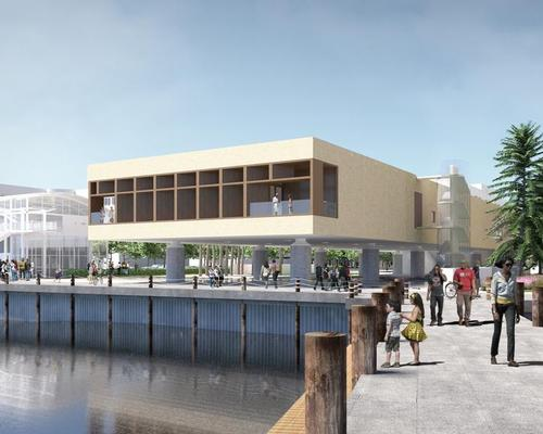 Construction of the International African American Museum is underway at Gadsden's Wharf