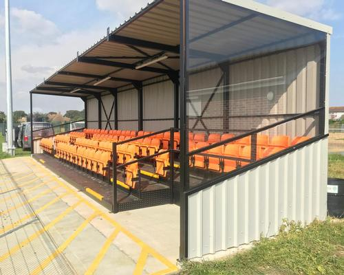 Audience Systems' Premier Grandstand is a turnkey seating solution for sports venues