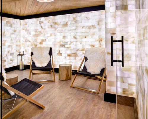 The specialist sports-recovery spa also includes a salt therapy room