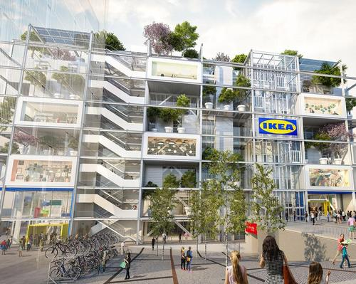 The store has been conceived to be entirely car-free and is intended to become a main meeting place for Vienna / ZOOMVP & Querkraft