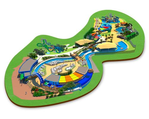 The Gardaland resort is located close to Lake Garda in Italy