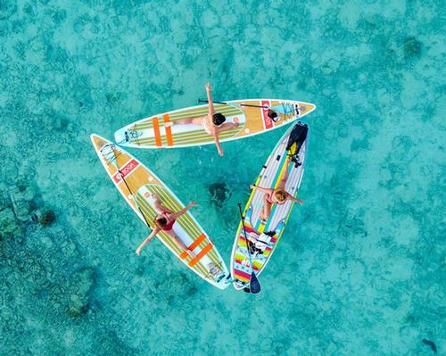 First 'floating fitness studio' set to launch at Maldives resort @cococollection #FloatingYoga #Yoga #WaterFitness