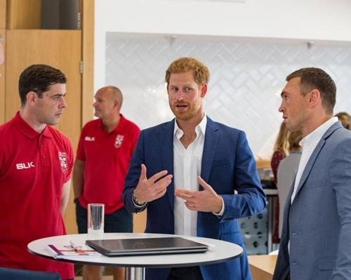 Prince Harry with continue to work with the RFL despite plans to step back as a 'senior' member of the Royal Family