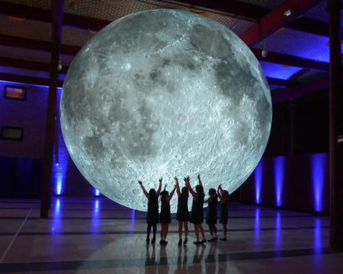 Luke Jerram's Museum of the Moon, a scale model of the moon suspended from the ceiling, will be on display until 15 March 2020