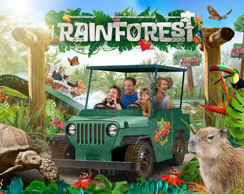 <i>Rainforest</i> will be Chessington's eleventh land, featuring road, river and treetop rides / Chessington World of Adventures