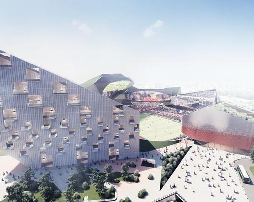 Buro Ehring's Hidden Stadium concept is an urban micro-city
