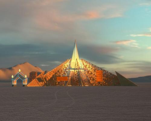The Temple will rise to a height of 70ft (21m) at its highest point
