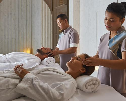 The 1,200sq m spa features ten treatment rooms and a VIP double suite with a Hammam