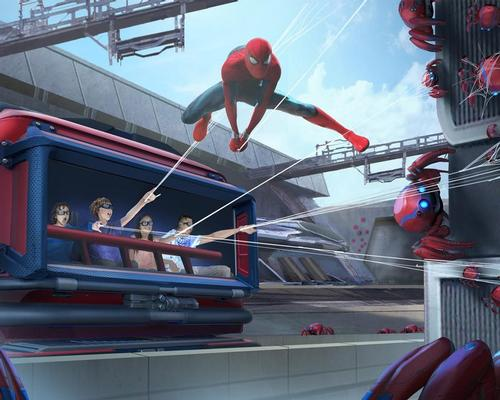 Disney reveals high-flying Spider-Man animatronic stunt robot for Avengers Campus