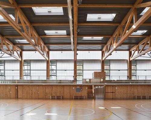 Sustainable sports centre in Barcelona features greenery, timber and passive design