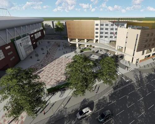 The £22m project will see the construction of a five-floor, 183 room hotel / Leicester Tigers