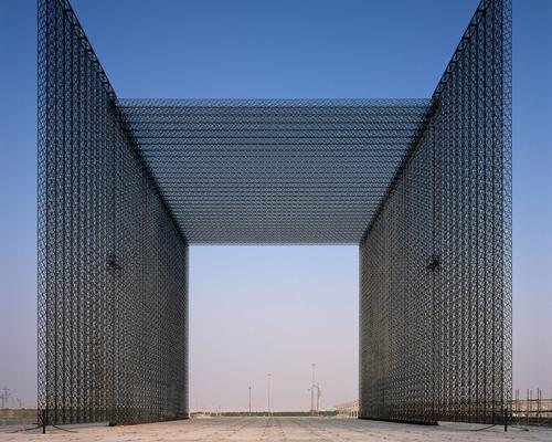 The portals are woven entirely from strands of ultra-lightweight carbon fibre composite / Helene Binet
