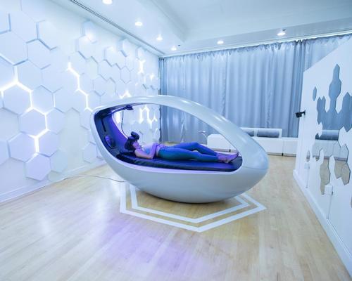 Sensync's Deep Brain Massage treatments are delivered in The Vessel – a VR pod designed to